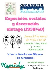 Exposición vestidos y decoración vintage